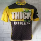 Thick Bikes Pittsburgh Cycling Bike Jersey Biking Top Mens Size S Small