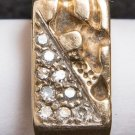 Vintage 18K Gold Plated Costume Jewelry Ring Size 9.5 tob