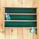 Vintage Golf Ball 36 Ball Display Shelf Solid Wood Wall Mount Table Green Lining