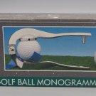 Star Case Golf Ball Monogrammer Kit 3 Initials Per Ball