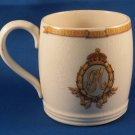 Vintage British Pottery Queen Mary 1910-1935 Silver Jubilee Ceramic Mug