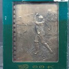 Metal Cover Golfer's Address Book NIB