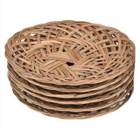 Plate woven plate bamboo woven plate rattan woven bamboo plates 50 pcs