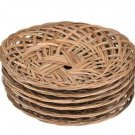 Plate woven plate bamboo woven plate rattan woven bamboo plates 50 pcs