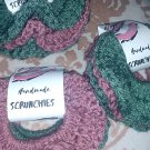 Green + Pink (set of 4) // Scrunchies