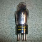 Vintage Philco Type 84/6Z4 Black Plate Bott Foil D Getter Made in USA Test Good