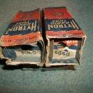 Lot of 2 Vintage 6G6G Tubes Black Plate Bot Foil Getter Made in USA Tested