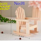 1:12 dollhouse miniature handmade Rocking chair rolling arm chair yard/2 chairs