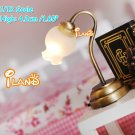 1:12 scale dollhouse miniature tulip shape table lamp LED light Doll house accessory w Battery