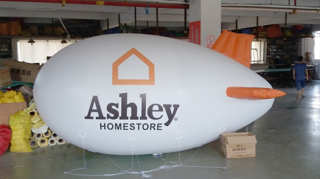 13ft (4M) Giant Inflatable Advertising Blimp /Flying Helium Balloon/Your Logo