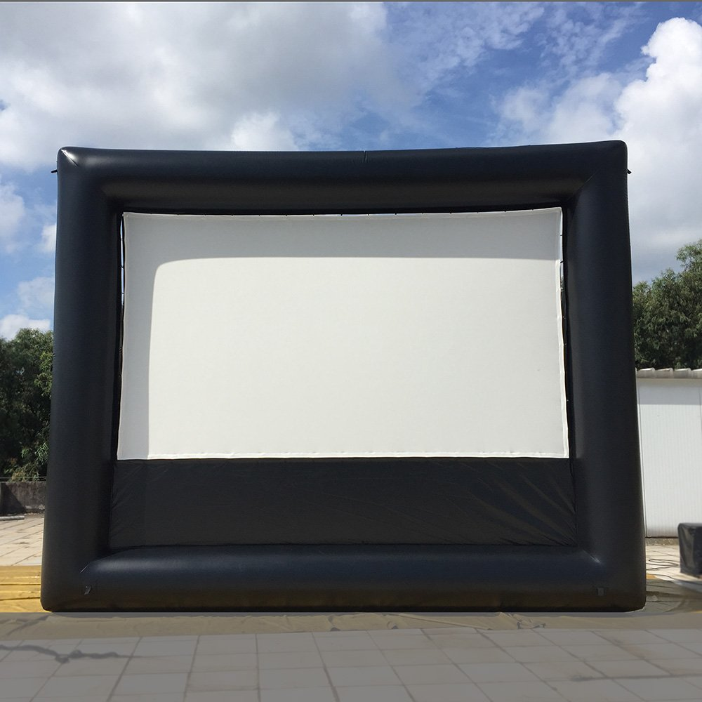 16'x9' Inflatable Movie Screen No Wrinkle Lycra Screen Backyard Home Cinema; Light Weight,Strong