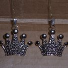 pair of Gold crown ornaments - Small