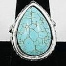 Large pear-shaped Turquoise Ring