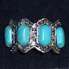 Geometric 4 stone Turquoise Ring