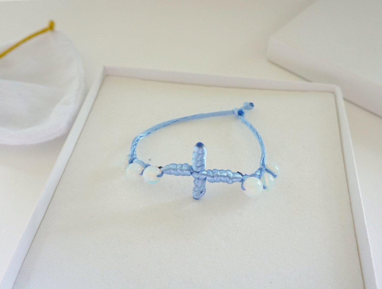 Cross and Opalite Bracelet
