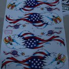 AMERICAN EAGLE STICKER DECALS 5 SHEETS FREE SHIPPING.