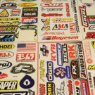 MTX MOTORCROSS RACING STICKERS 5 SHEETS FREE SHIPPING.