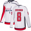 Men's Washington Capitals #8 Alex Ovechkin White Stitched Jersey