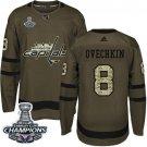 Men's Alex Ovechkin 8 Washington Capitals hockey Jersey green