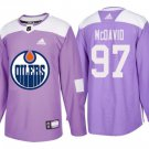 Mens Edmonton Oilers 97 Connor McDavid Purple Fights Jerseys