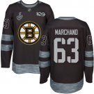 Men Boston Bruins Brad Marchand 63 Black Stanley Cup Final Jersey