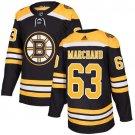 Men's Brad Marchand63 Boston Bruins Stitched Home Black Jersey