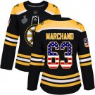 Women Boston Bruins #63 Brad Marchand Black Stanley Cup Final Jersey1