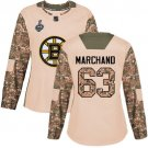 Women Boston Bruins #63 Brad Marchand Camo Stanley Cup Final Jersey