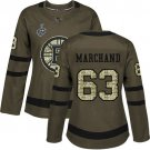 Women Boston Bruins #63 Brad Marchand Green Stanley Cup Final Jersey