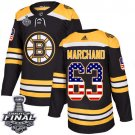Youth Boston Bruins #63 Brad Marchand Black Stanley Cup Final Jersey