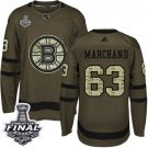 Youth Boston Bruins #63 Brad Marchand Green Stanley Cup Final Jersey