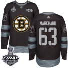 Youth Boston Bruins #63 Brad Marchand Grey Stanley Cup Final Jersey