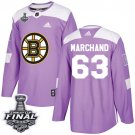 Youth Boston Bruins #63 Brad Marchand Purple Stanley Cup Final Jersey