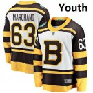 Youth Boston Bruins #63 Brad Marchand White 2019 Winter Classic Jersey
