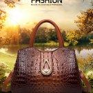 Fashion Crocodile Genuine Leather Luxury Handbags Women Bags