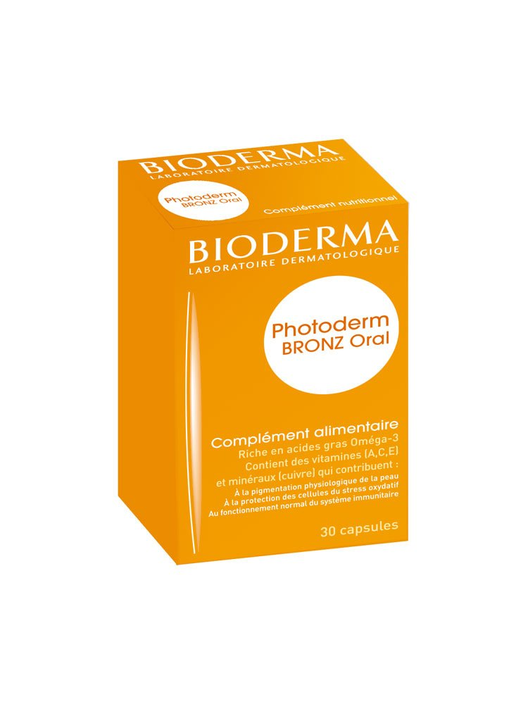 Bioderma Photoderm Bronz Oral Nutritional Complement 30 Capsules