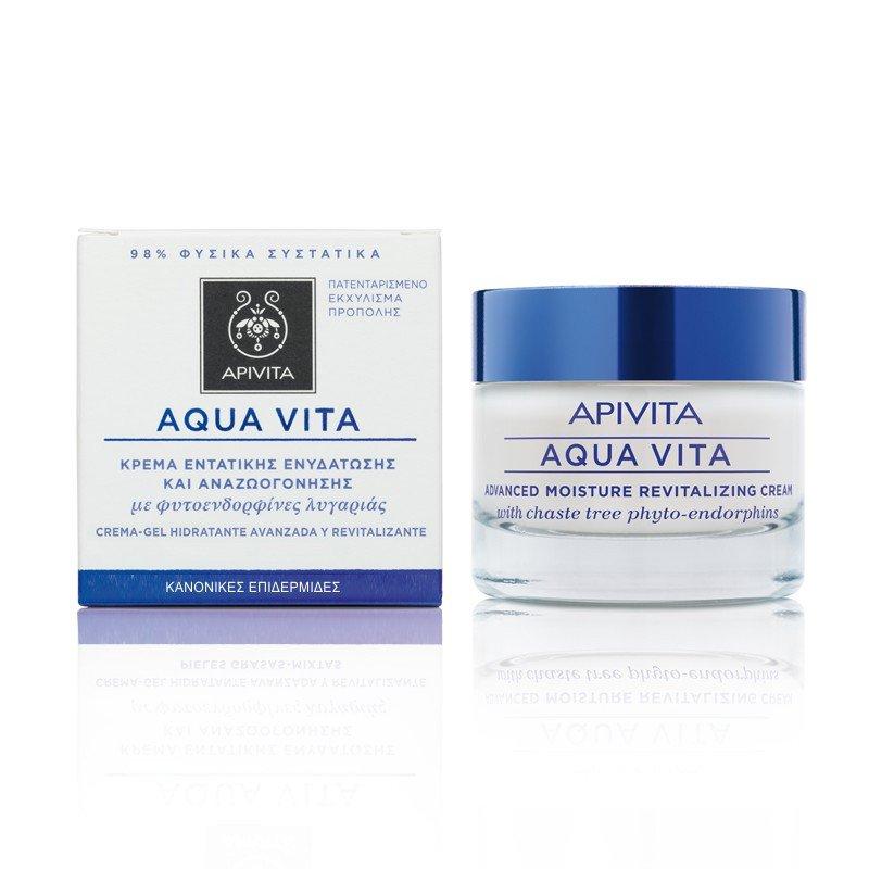 Apivita AQUA VITA Advanced Moisture Revitalizing Cream for Normal-Dry Skin 50ml
