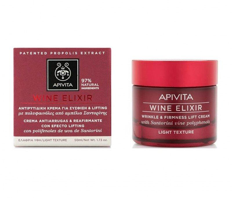 Apivita WINE ELIXIR Wrinkle & Firmness Lift Cream - Light Texture 50ml