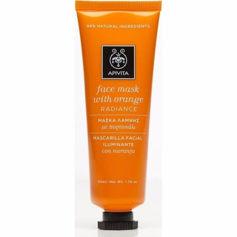 Apivita FACE MASK Radiance Mask with Orange 50ml