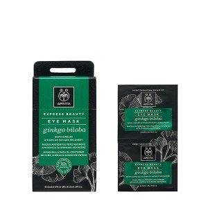 Apivita EXPRESS BEAUTY Dark Circles & Signs of Fatigue Recovery Eye Mask with Ginkgo 2 x 2ml
