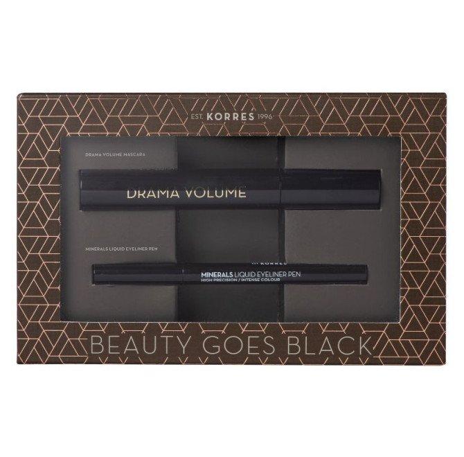 KORRES Mascara Drama Volume Volcanic Minerals 01 Black& Minerals Eyeliner Pen 01 Black