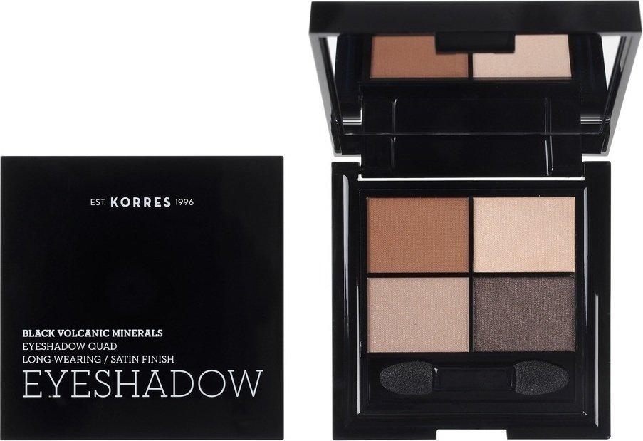Korres Black Volcanic Minerals Eyeshadow Quad The Bare Nudes