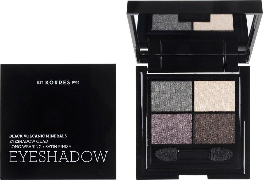 Korres Black Volcanic Minerals Eyeshadow Quad The Naked Smokey