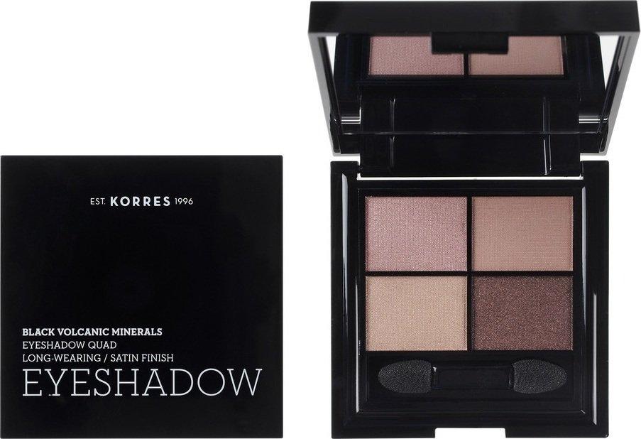 Korres Black Volcanic Minerals Eyeshadow Quad The Blushed Nudes