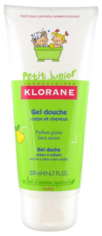 KLORANE PETIT JUNIOR SHOWER GEL 200ML FRAGRANCE: RASPBERRY