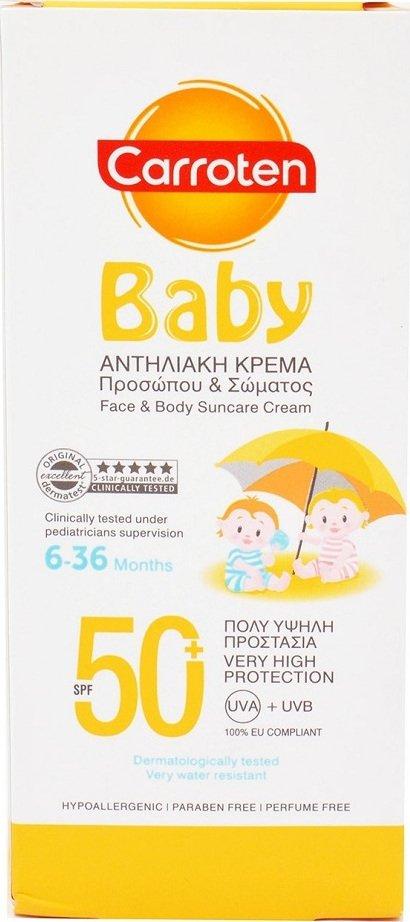 Carroten Baby Face & Body Suncare Cream SPF50 150ml