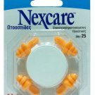 NEXCARE REUSABLE EAR PLUGS WITH CASE 2 PAIRS