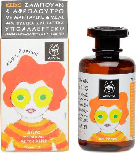 Apivita KIDS Hair & Body Wash with Tangerine & Honey 250ml