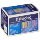 BAYER microlet coloured silicone-coated 100 lancets