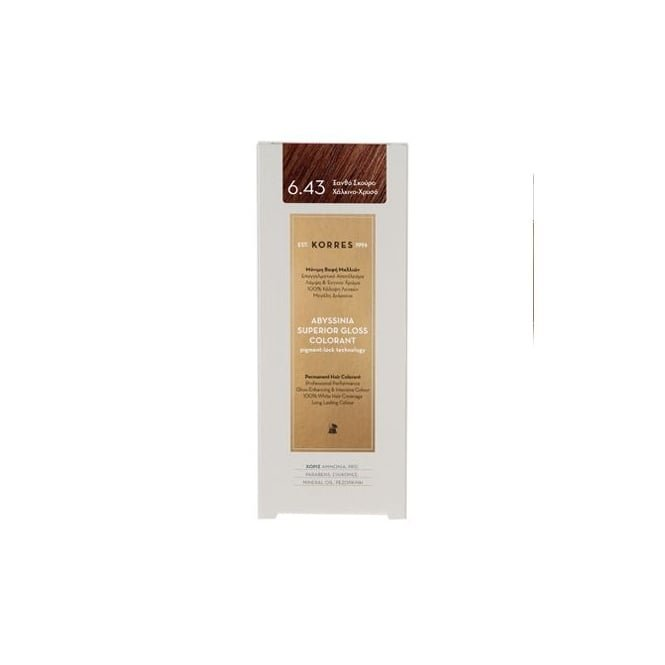 KORRES Abyssinia Superior Gloss Colorant 50ml - 6.43 Dark Blonde Copper Honey